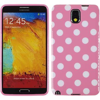 Silikon Hülle Galaxy Note 3 Polkadot Design:02 + 2 Schutzfolien