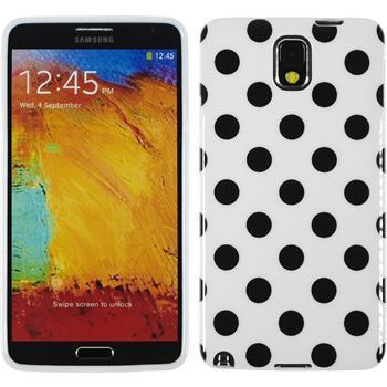 Silikon Hülle Galaxy Note 3 Polkadot Design:06 + 2 Schutzfolien