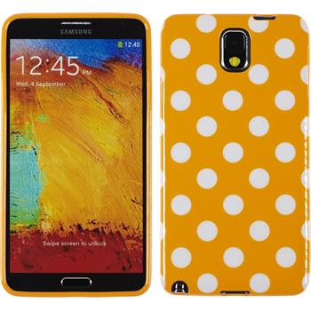 Silikon Hülle Galaxy Note 3 Polkadot Design:10 + 2 Schutzfolien