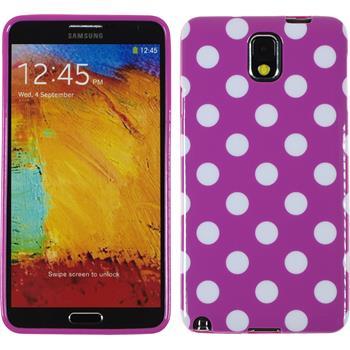 Silikon Hülle Galaxy Note 3 Polkadot Design:11 + 2 Schutzfolien