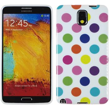 Silicone Case for Samsung Galaxy Note 3 Polkadot Design:12