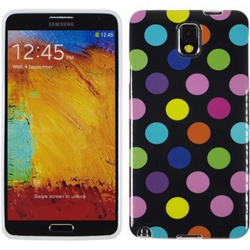 Silicone Case for Samsung Galaxy Note 3 Polkadot Design:13