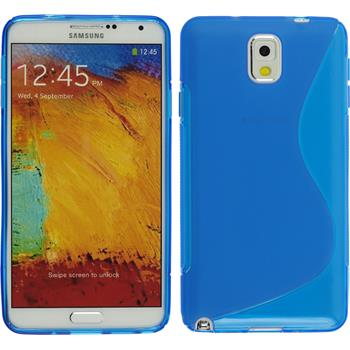 Silicone Case for Samsung Galaxy Note 3 S-Style blue