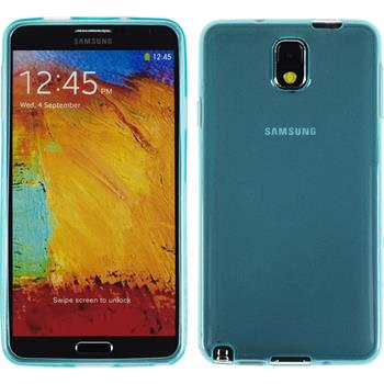 Silicone Case for Samsung Galaxy Note 3 transparent turquoise
