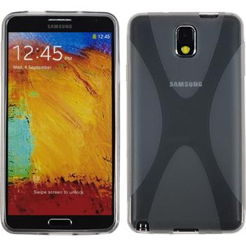 Silicone Case for Samsung Galaxy Note 3 X-Style gray