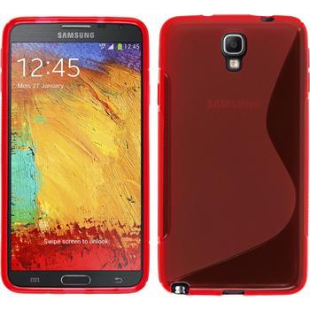 Silikonhülle für Samsung Galaxy Note 3 Neo S-Style rot