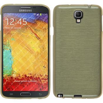 Silikonhülle für Samsung Galaxy Note 3 Neo brushed gold