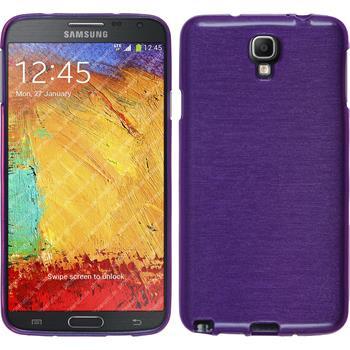 Silikon Hülle Galaxy Note 3 Neo brushed lila + 2 Schutzfolien