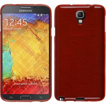 Silikon Hülle Galaxy Note 3 Neo brushed rot