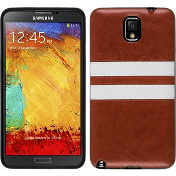 Silikonhülle für Samsung Galaxy Note 3 Stripes braun