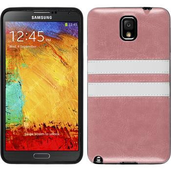 Silikonhülle für Samsung Galaxy Note 3 Stripes rosa