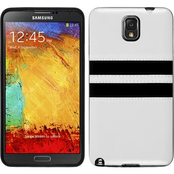 Silikon Hülle Galaxy Note 3 Stripes weiß