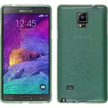 Silikonhülle für Samsung Galaxy Note 4 brushed grün