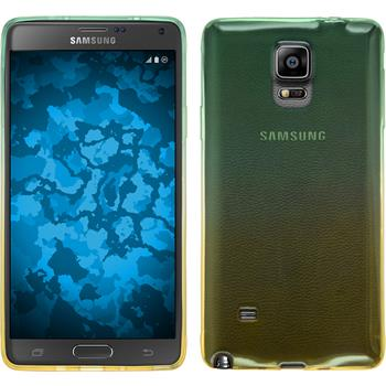 Silikon Hülle Galaxy Note 4 Ombrè Design:03 + 2 Schutzfolien