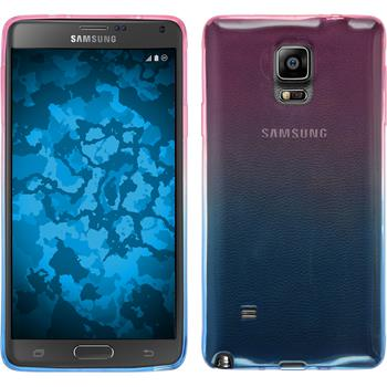 Silikon Hülle Galaxy Note 4 Ombrè Design:06 + 2 Schutzfolien