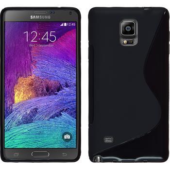 Silikonhülle für Samsung Galaxy Note 4 S-Style schwarz