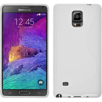 Silikonhülle für Samsung Galaxy Note 4 S-Style weiß
