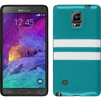 Silikon Hülle Galaxy Note 4 Stripes türkis