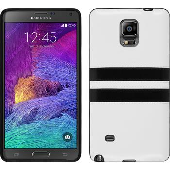Silikon Hülle Galaxy Note 4 Stripes weiß