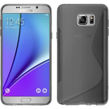 Silikonhülle für Samsung Galaxy Note 5 S-Style grau