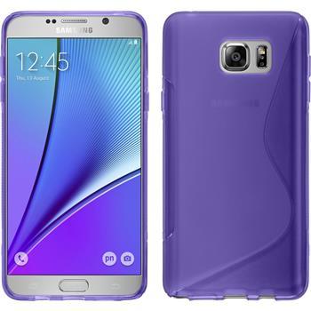 Silikon Hülle Galaxy Note 5 S-Style lila