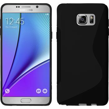 Silikon Hülle Galaxy Note 5 S-Style schwarz