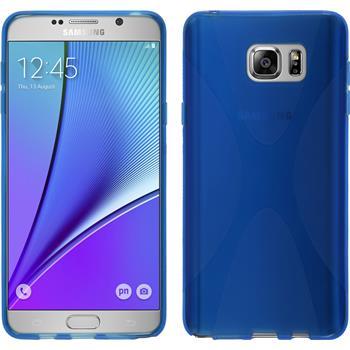 Silikon Hülle Galaxy Note 5 X-Style blau