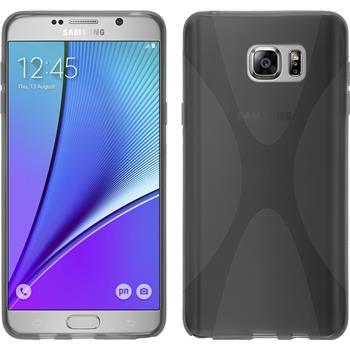 Silikon Hülle Galaxy Note 5 X-Style grau