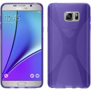 Silikon Hülle Galaxy Note 5 X-Style lila