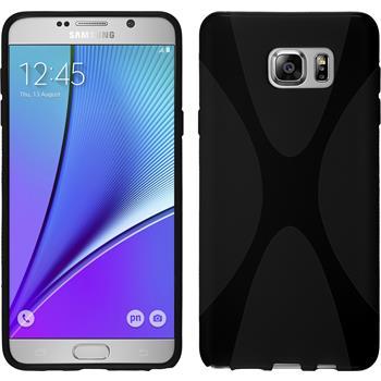 Silikon Hülle Galaxy Note 5 X-Style schwarz