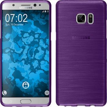 Silikonhülle für Samsung Galaxy Note 7 brushed lila