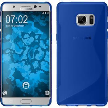 Silikonhülle für Samsung Galaxy Note 7 S-Style blau