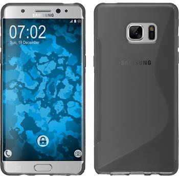 Silikon Hülle Galaxy Note FE S-Style grau Case