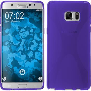 Silikonhülle für Samsung Galaxy Note 7 X-Style lila