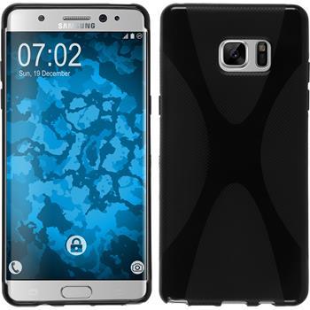 Silikonhülle für Samsung Galaxy Note 7 X-Style schwarz