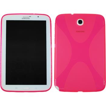 Silicone Case for Samsung Galaxy Note 8.0 X-Style hot pink