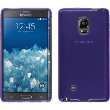 Silikonhülle für Samsung Galaxy Note Edge transparent lila