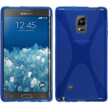 Silikon Hülle Galaxy Note Edge X-Style blau