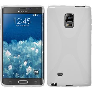 Silikon Hülle Galaxy Note Edge X-Style weiß