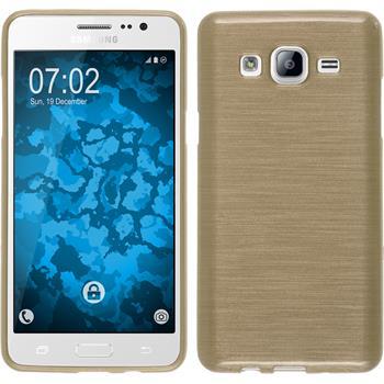 Silikonhülle für Samsung Galaxy On5 brushed gold