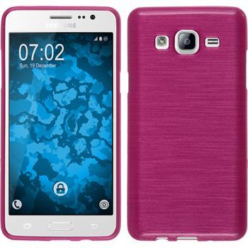 Silikon Hülle Galaxy On5 brushed pink + 2 Schutzfolien