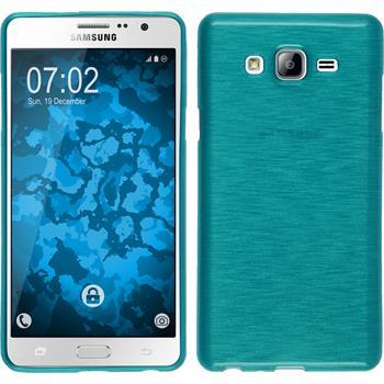 Silikonhülle für Samsung Galaxy On7 brushed blau