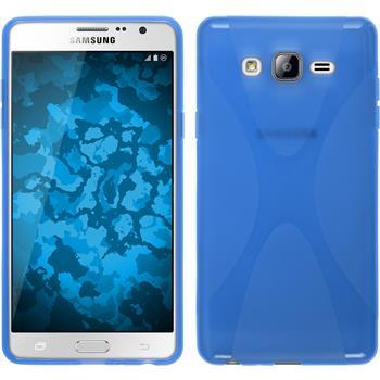 Silikon Hülle Galaxy On7 X-Style blau