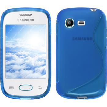 Silikon Hülle Galaxy Pocket Neo S-Style blau