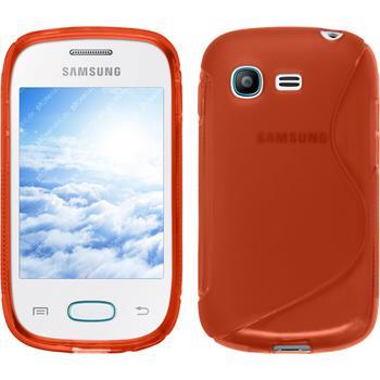 Silikon Hülle Galaxy Pocket Neo S-Style rot