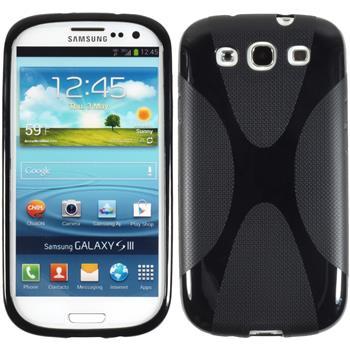 Silikon Hülle Galaxy S3 X-Style schwarz