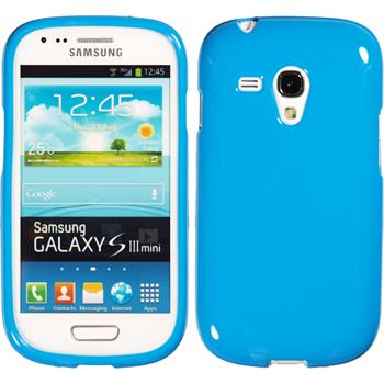 Silicone Case for Samsung Galaxy S3 Mini Candy light blue