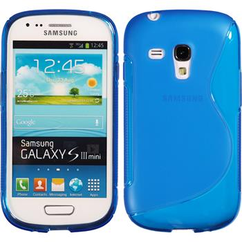 Silikon Hülle Galaxy S3 Mini S-Style blau
