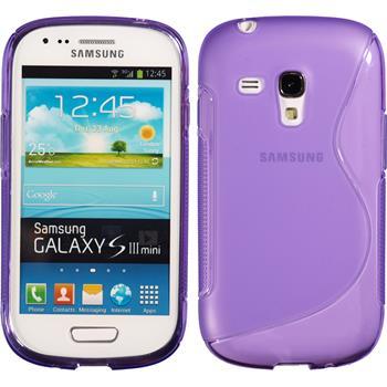 Silikon Hülle Galaxy S3 Mini S-Style lila