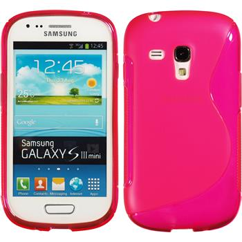 Silikon Hülle Galaxy S3 Mini S-Style pink